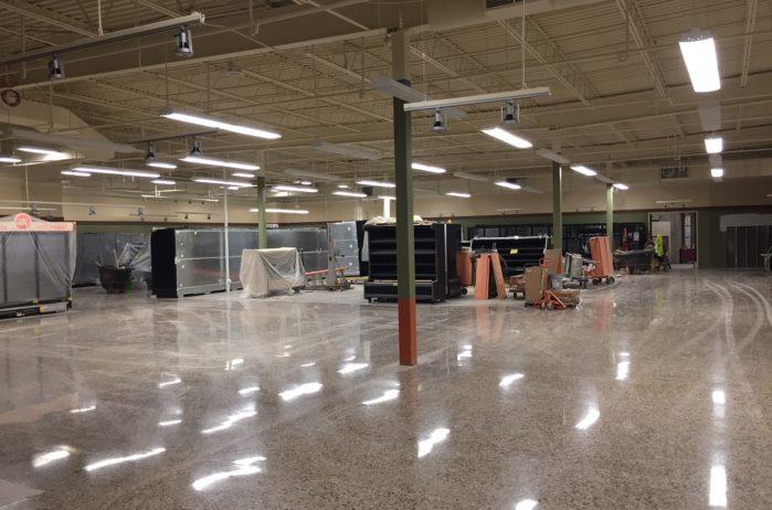 Polished concrete sales floor, Jerry's Foods Eden Prairie