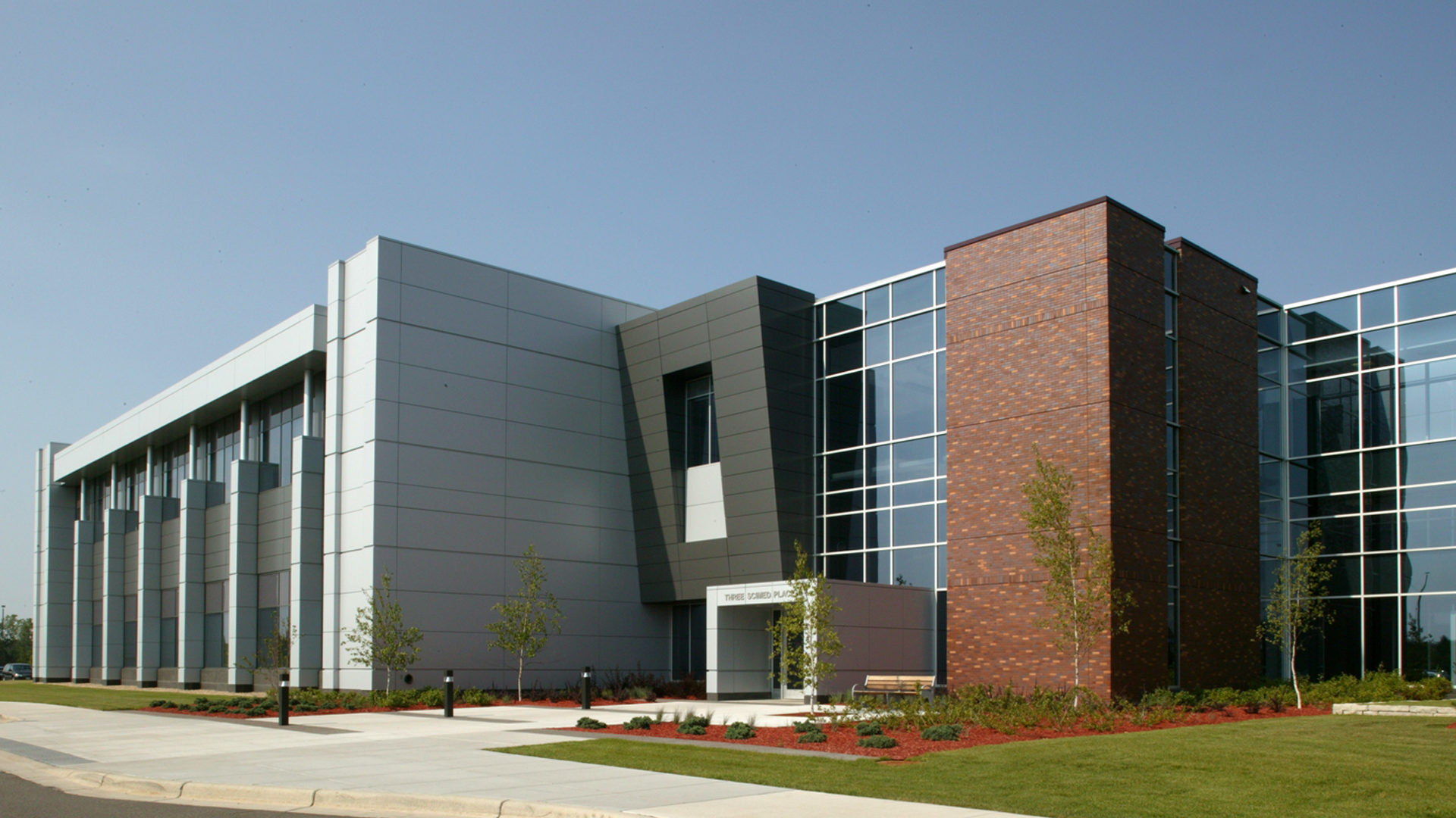 Boston Scientific Weaver Lake Phase III Expansion High Tech Manufacturing Exterior Entrance of Phase III