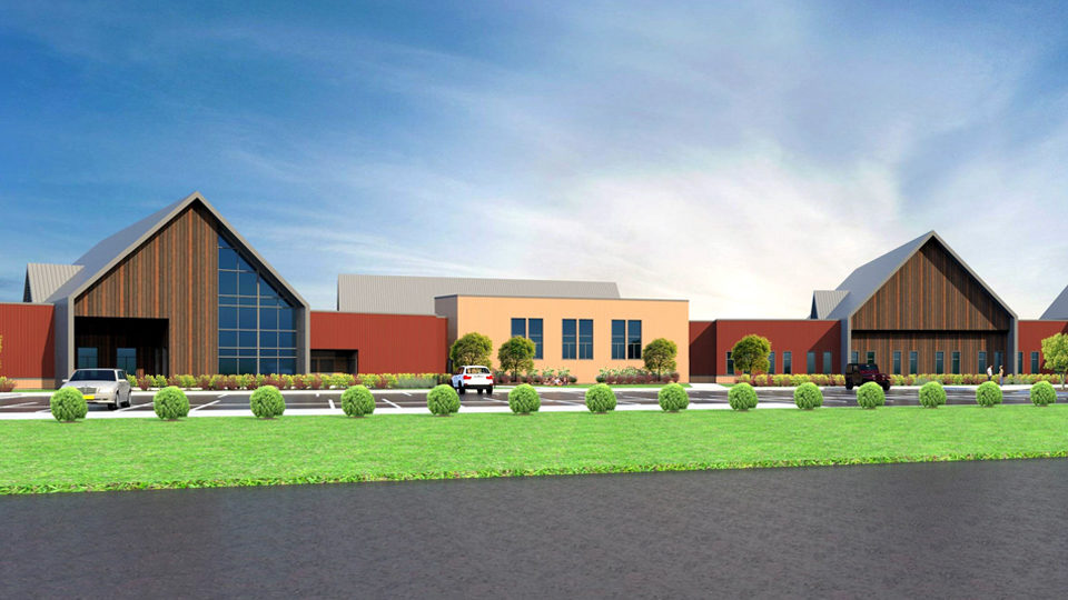 Cambia Hills Treatment Facility East Bethel MN Rendering front elevation