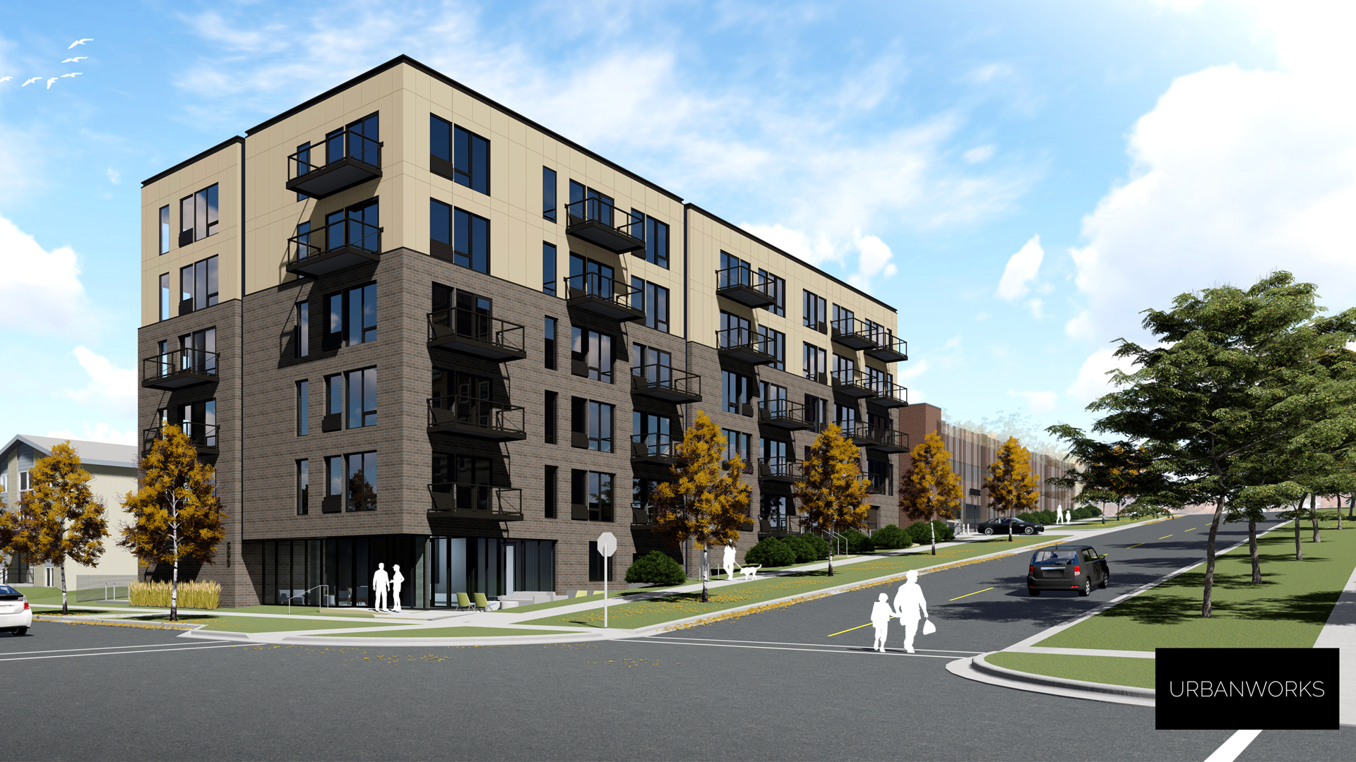 Capitol Professional Office Building Residential Apartments St Paul MN Rendering