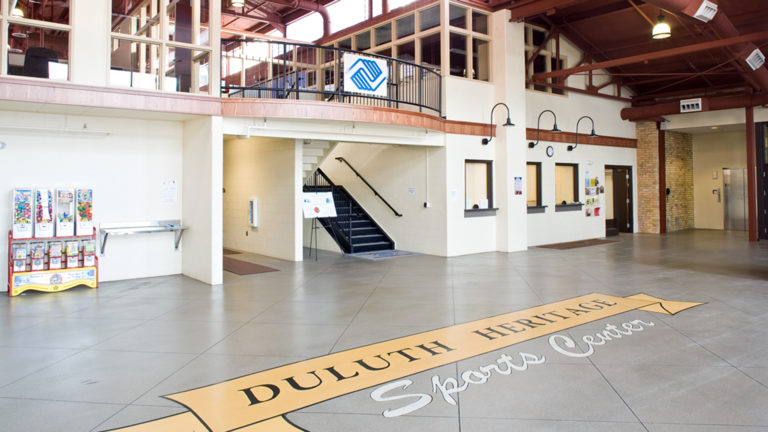 Duluth Heritage Sports Center Hockey Arena Interior Entrance Lobby