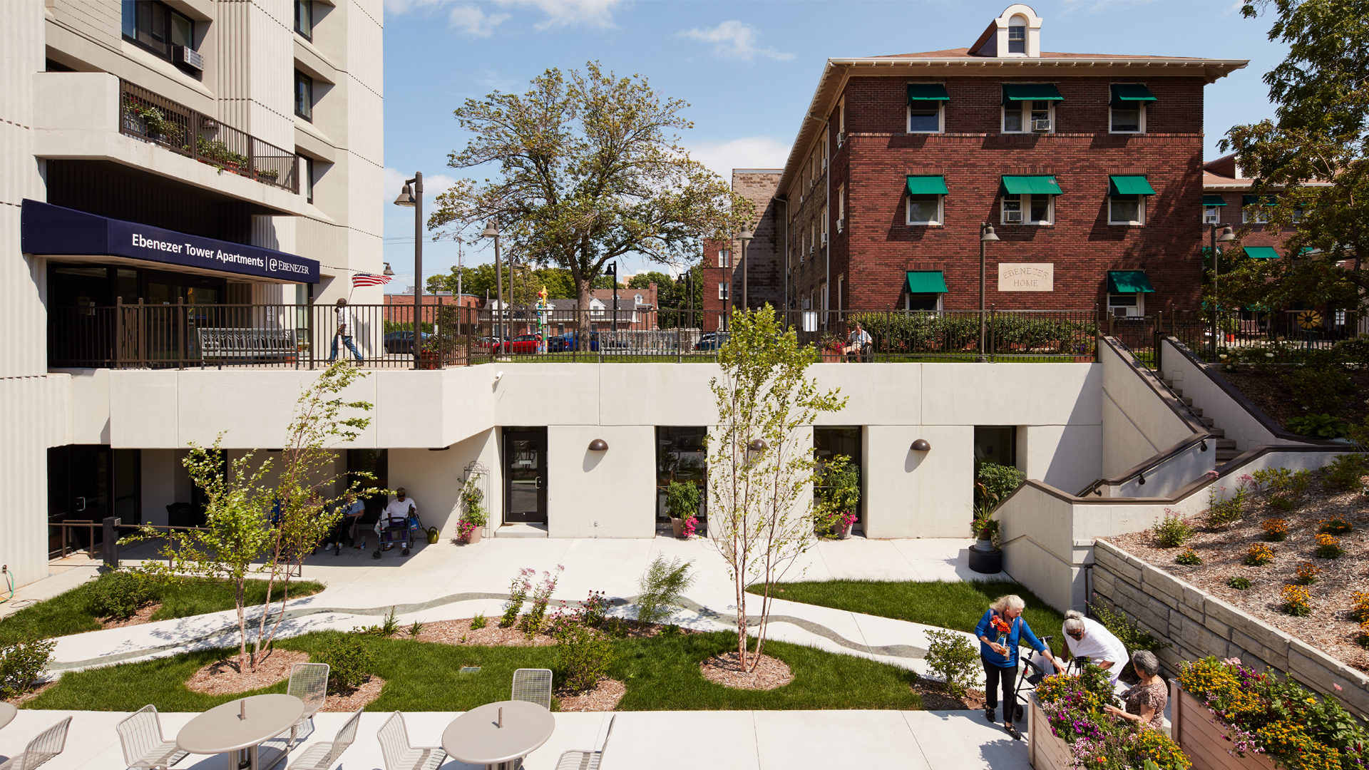 Ebenezer Tower Apartments Exterior Recessed Courtyard