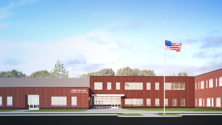 Gene Dillon Elementary School Bemidji Rendering Exterior View