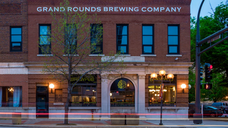 Grand Rounds Brewing Company Restaurant Rochester Exterior View