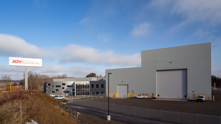 JoyGlobal Virginia Manufacturing Warehouse Exterior Office and Warehouse View