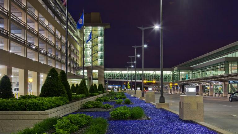 MAC T2-Humphrey Terminal Bloomington_View of Parking Ramp and Drop Off Area to the Terminal