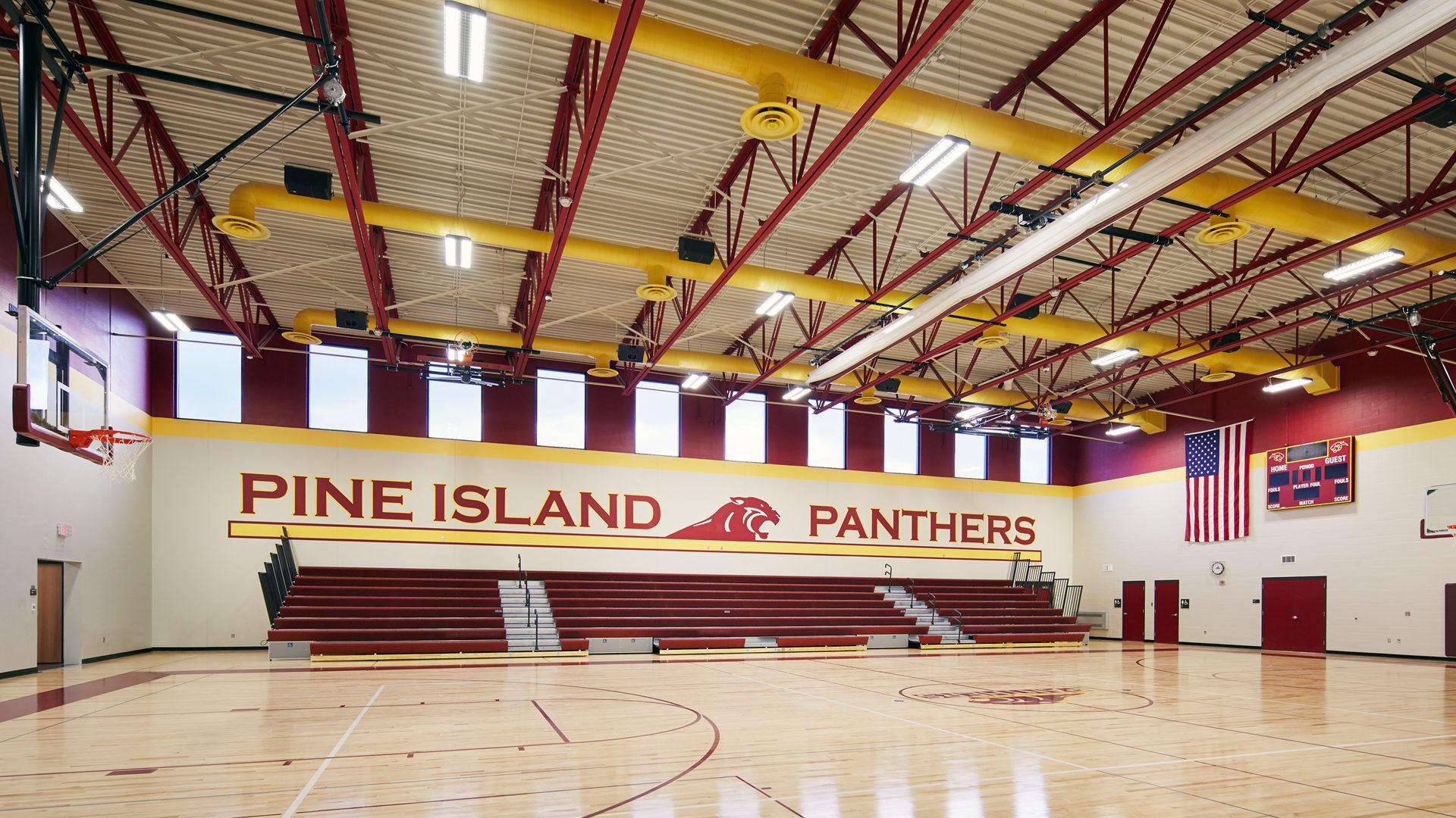 Pine Island Elementary School Pine Island MN Gymnasium with Bleachers