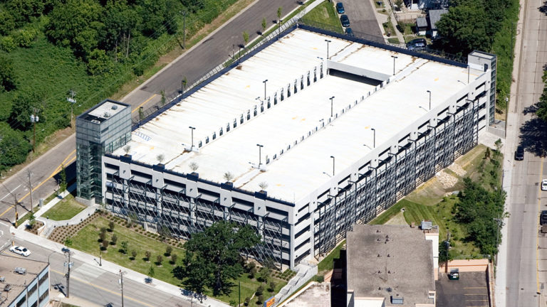Regions Hospital Staff Parking Ramp St Paul MN Exterior Aerial View