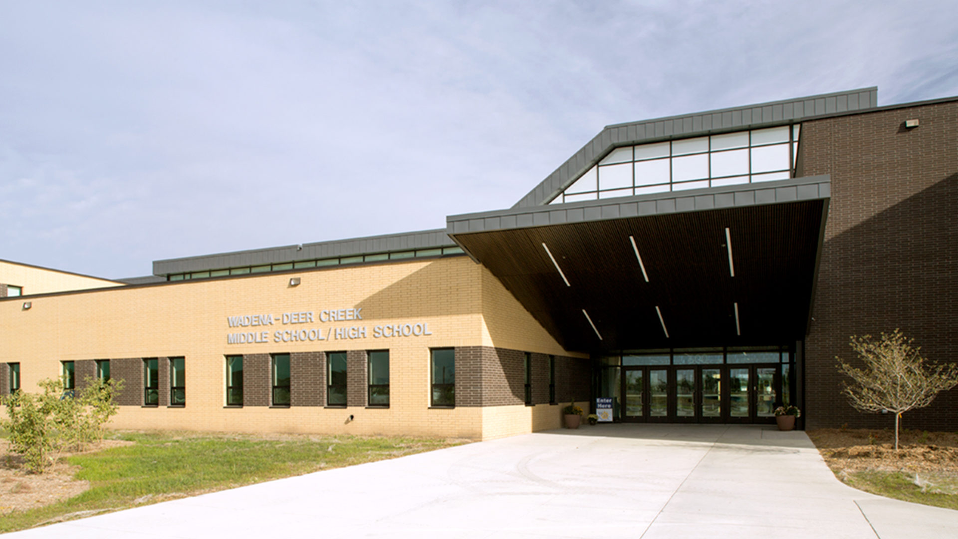 Wadena-Deer Creek Middle School-High School Wadena MN Exterior Close Up Entrance View