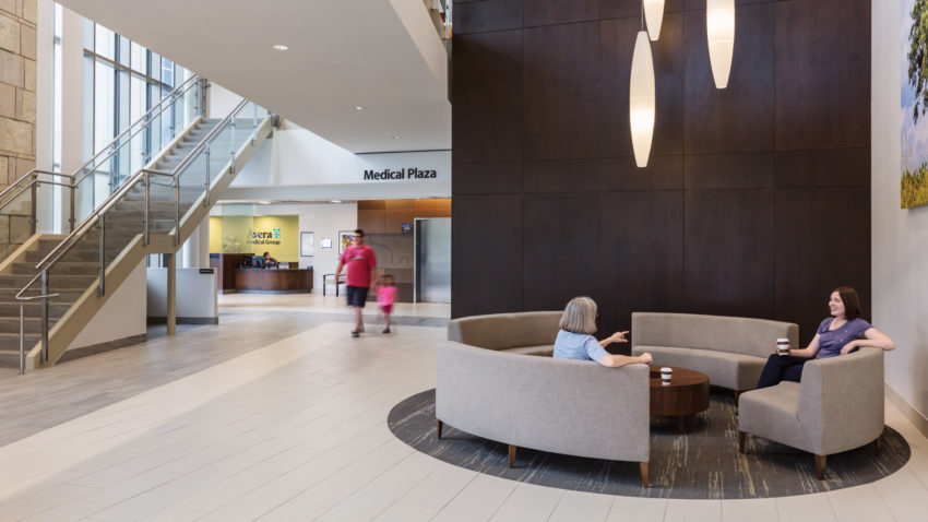 Brookings Hospital Addition and Renovation Interior Waiting Area