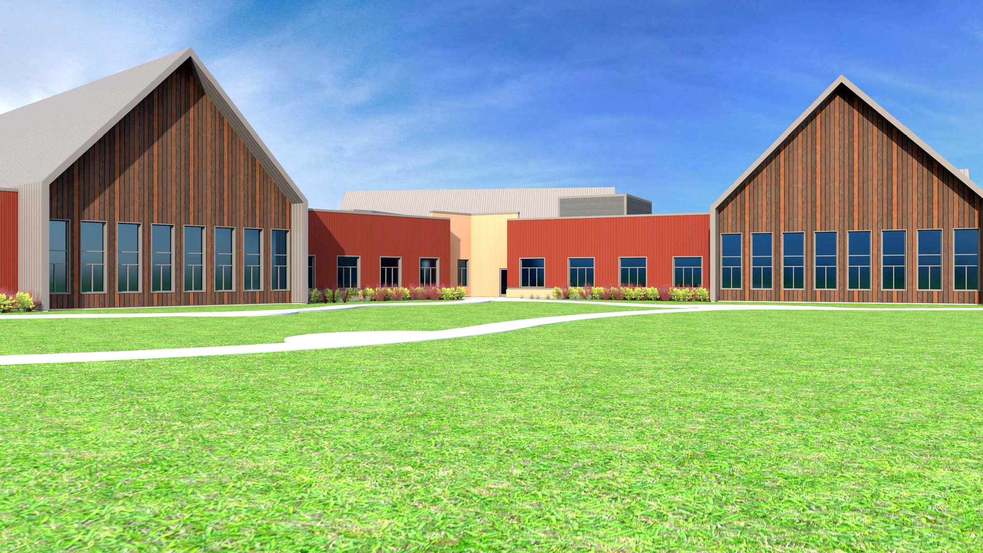 Cambia Hills Treatment Facility East Bethel MN Rendering View of Courtyard