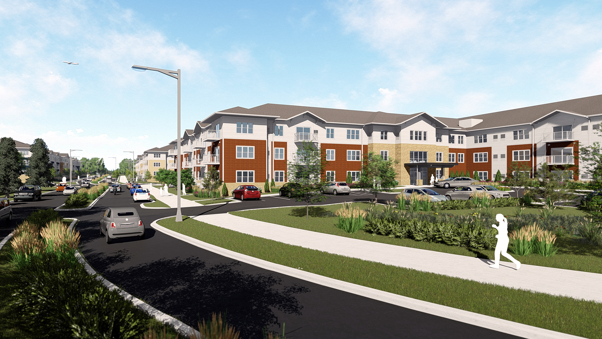 Chamberlain Residential Apartments Richfield MN Rendering From NorthEast
