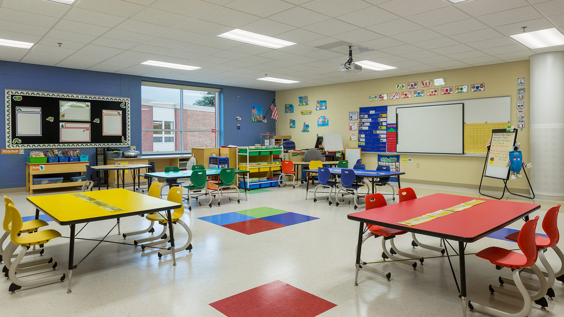 Clear Lake Elementary School Interior Primary Colored Class Room