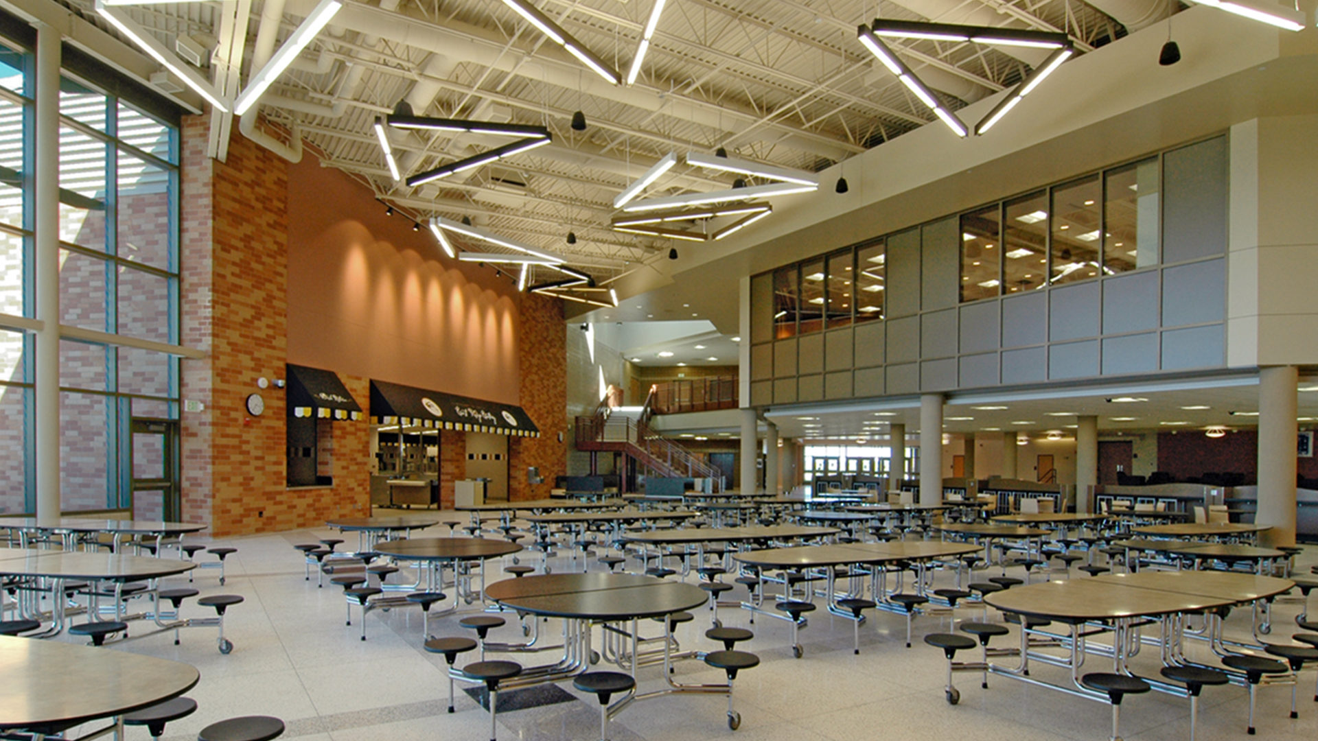 East Ridge High School Vaulted Ceiling Cafeteria