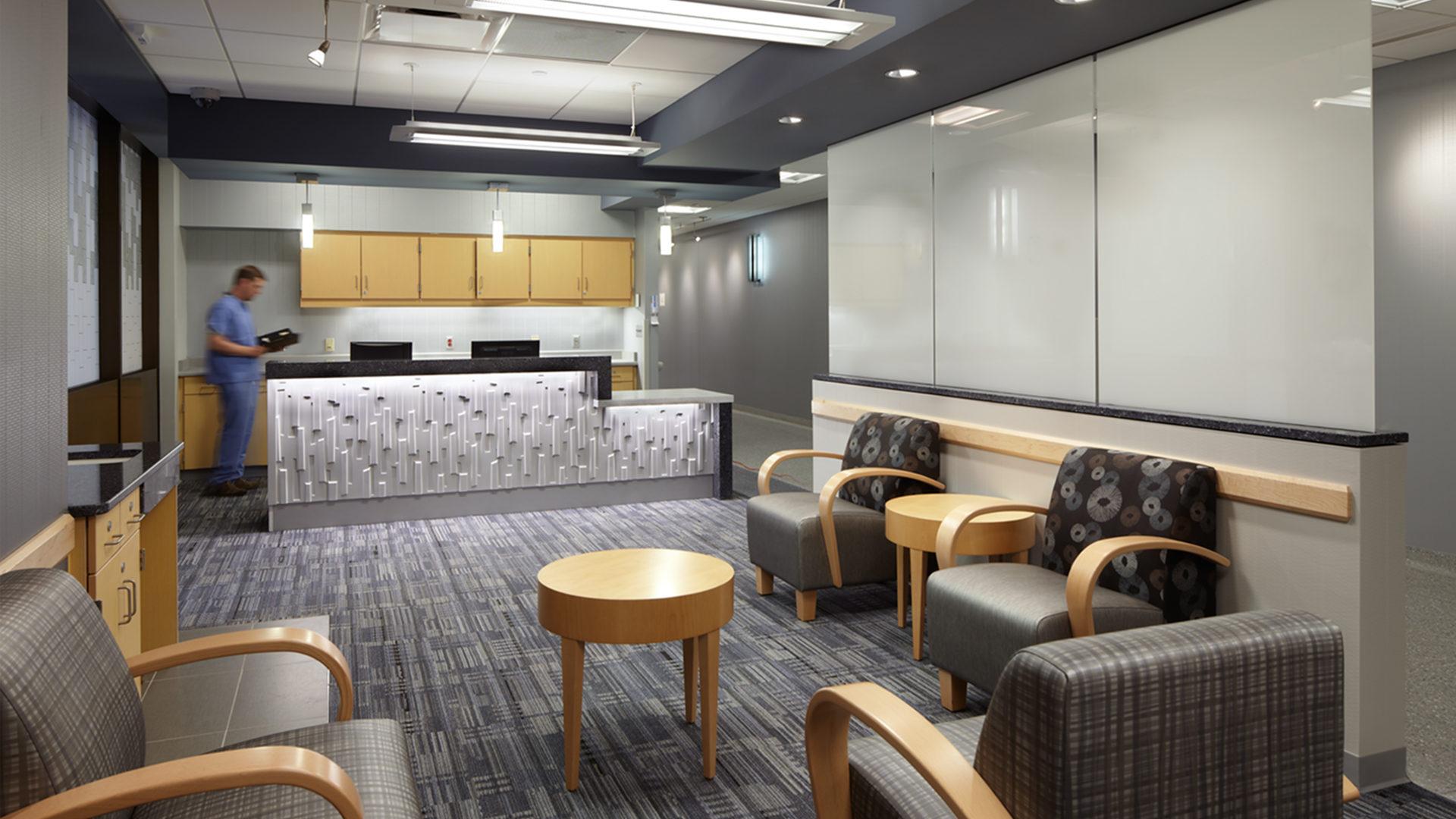 HCMC Hyperbaric Chamber Interior Lobby Featuring Beautiful Reception Desk