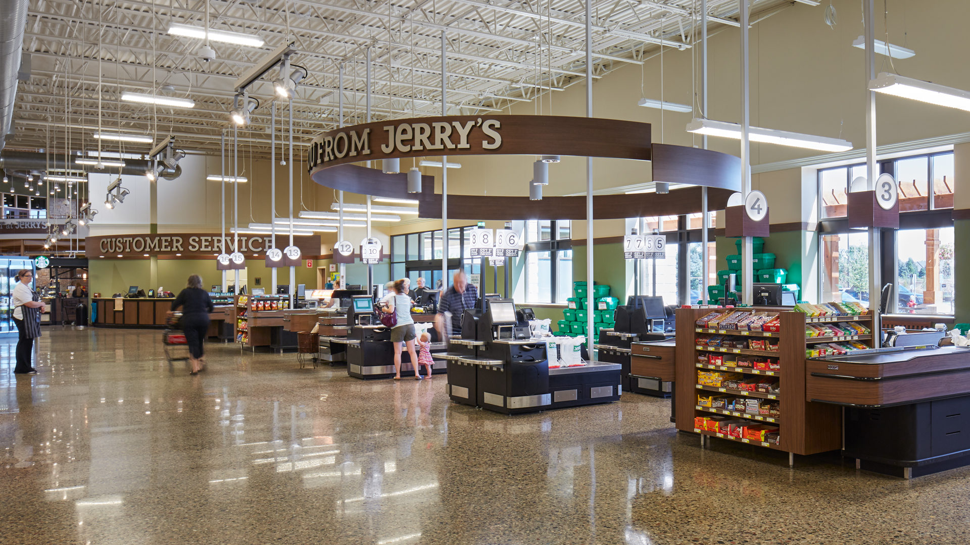 Jerrys Foods Grocery Store Woodbury Check out Counters