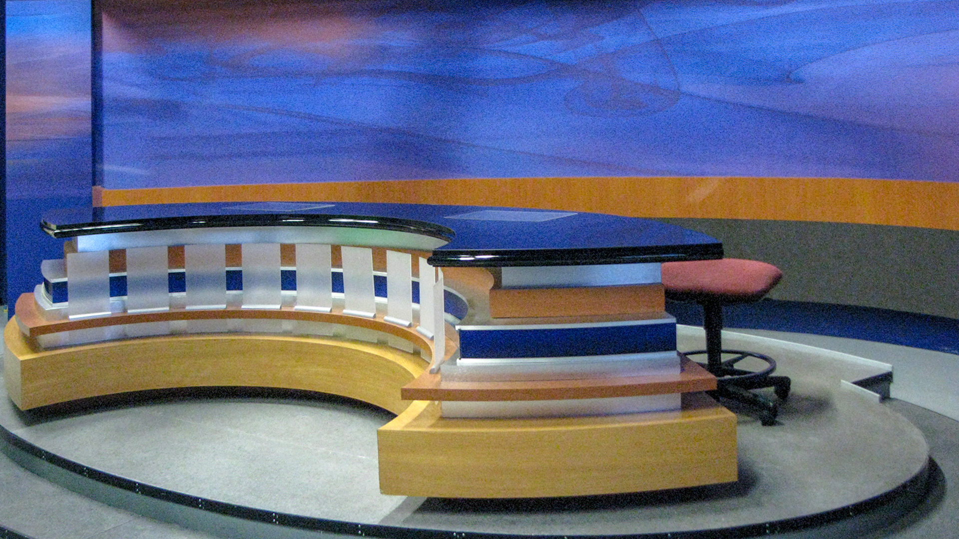KAAL TV Studio Rochester ABC 6 News News Anchor Desk