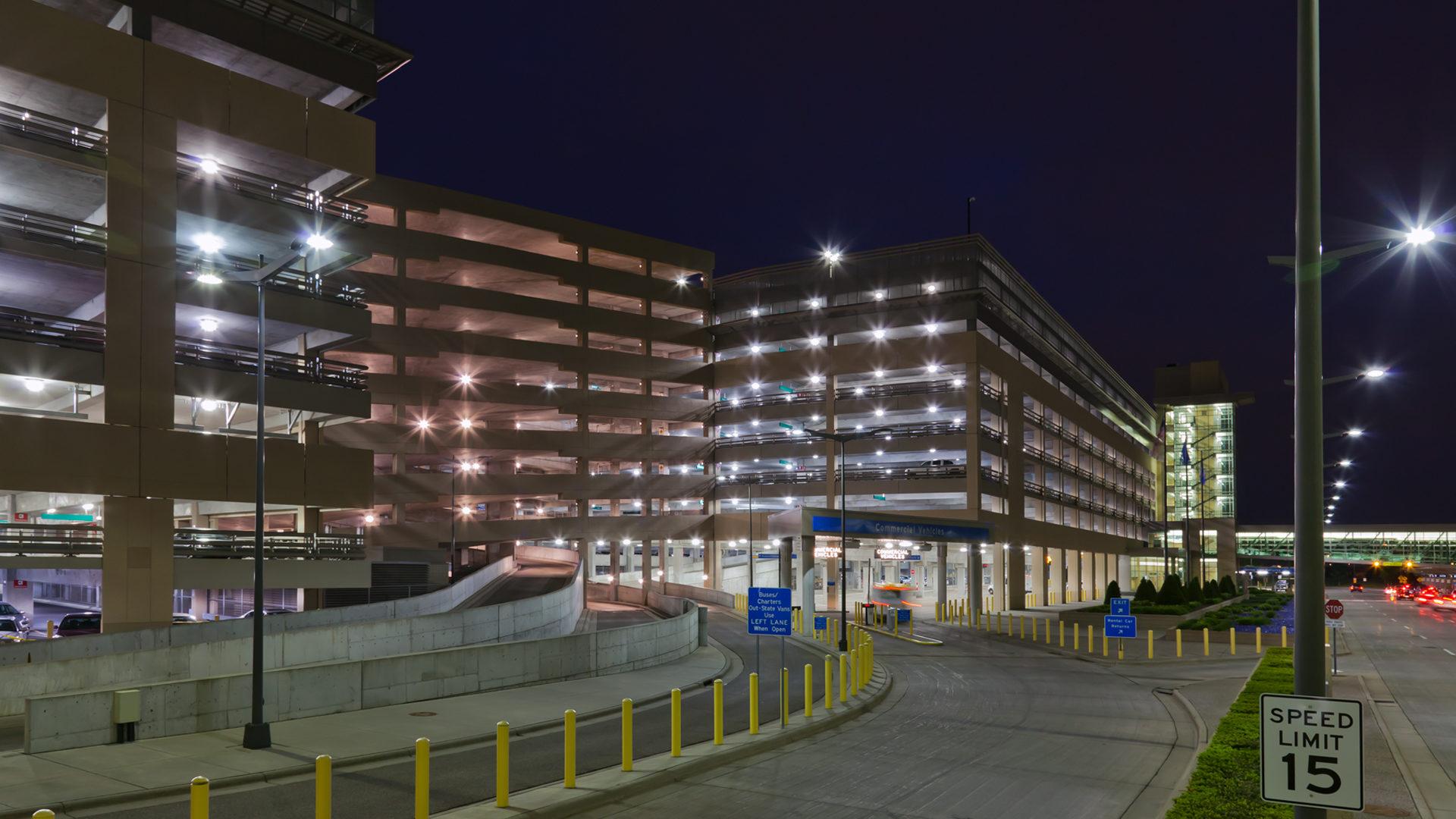 MAC T2-Humphrey Terminal Bloomington_View of Parking Ramp Entrance