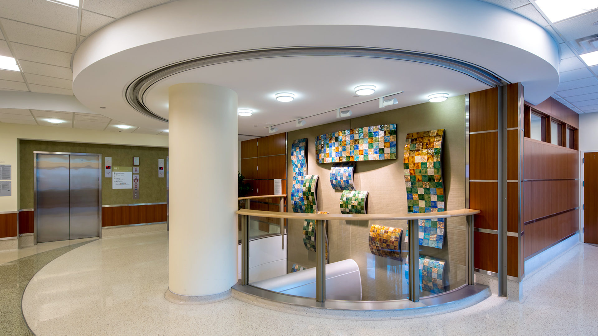 Regions Mental Health Center St Paul MN Healthcare 2-Sotry Art Display Near Elevator Banks