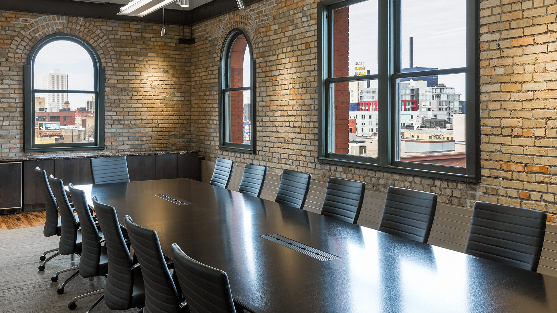 Valspar Applied Science and Technology Center VAST II Manufacturing High Tech RnD Brick Wall Conference Room