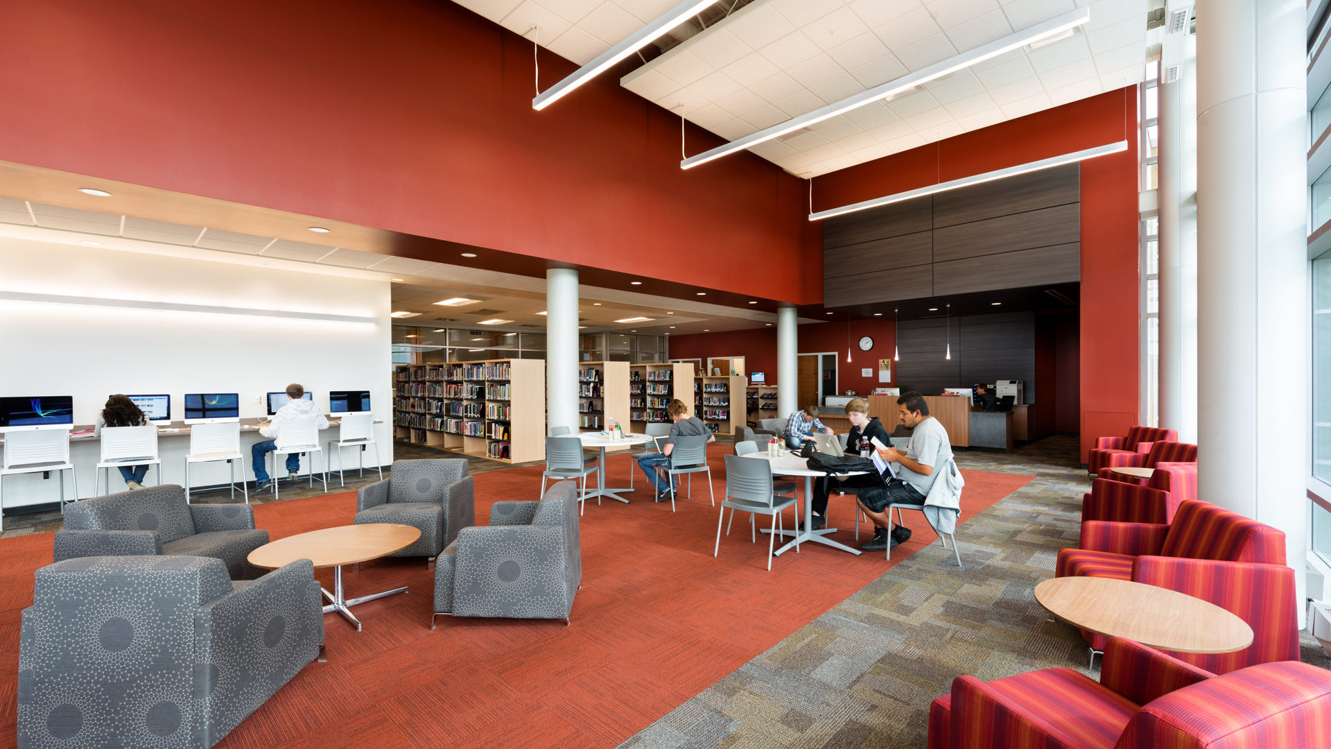Watford City High School Watford City ND Library Open Study Area