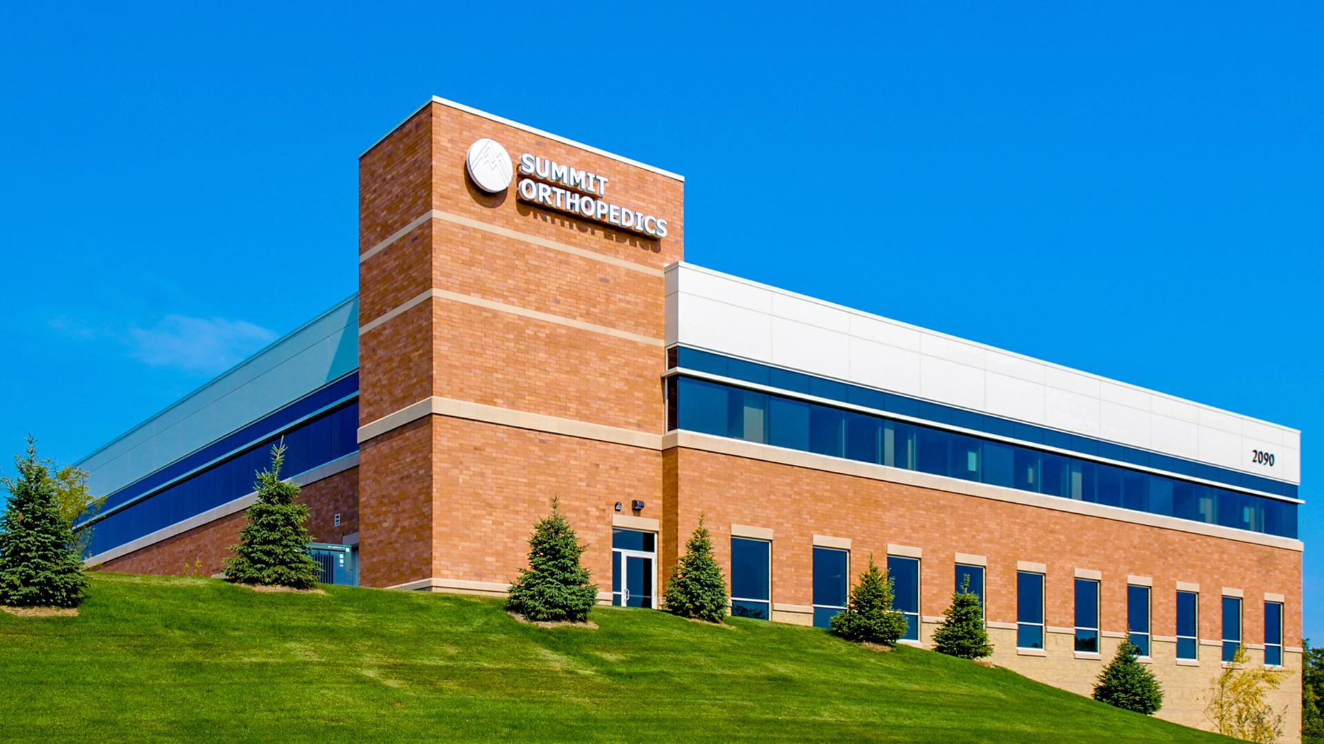 Woodlake Medical Center Woodbury MN Healthcare Summit Orthopedics Back Elevation View