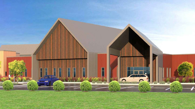 Cambia Hills Treatment Facility East Bethel MN Rendering View of Main Entrance