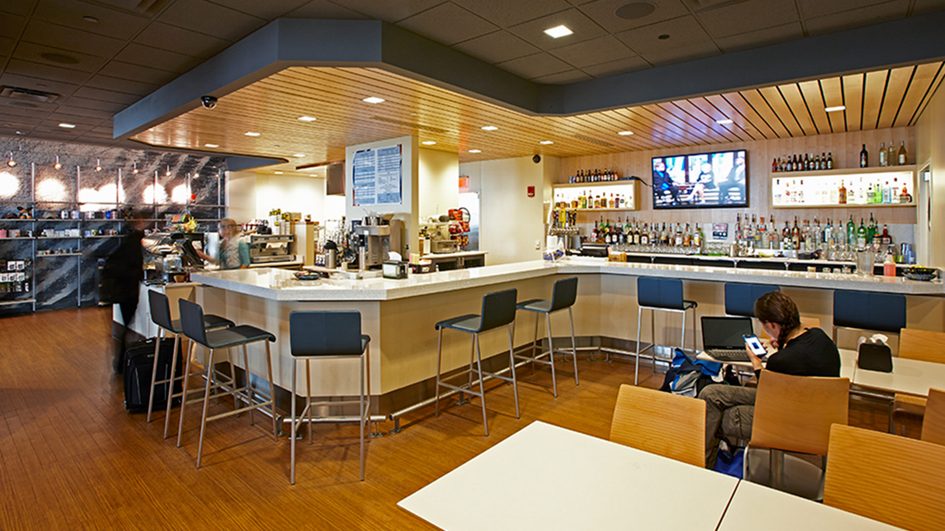 Duluth International Airport Terminal Interior Cafe and Bar