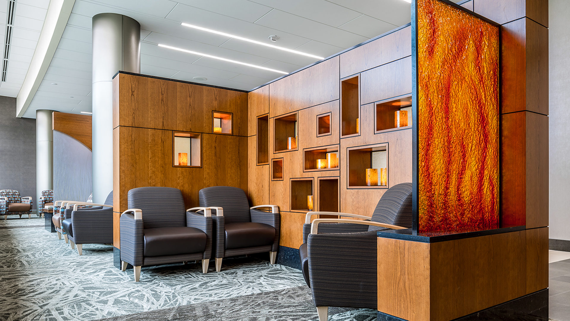 Fairview Ridges Hospital Addition and Renovations Burnsville Lobby Waiting Area