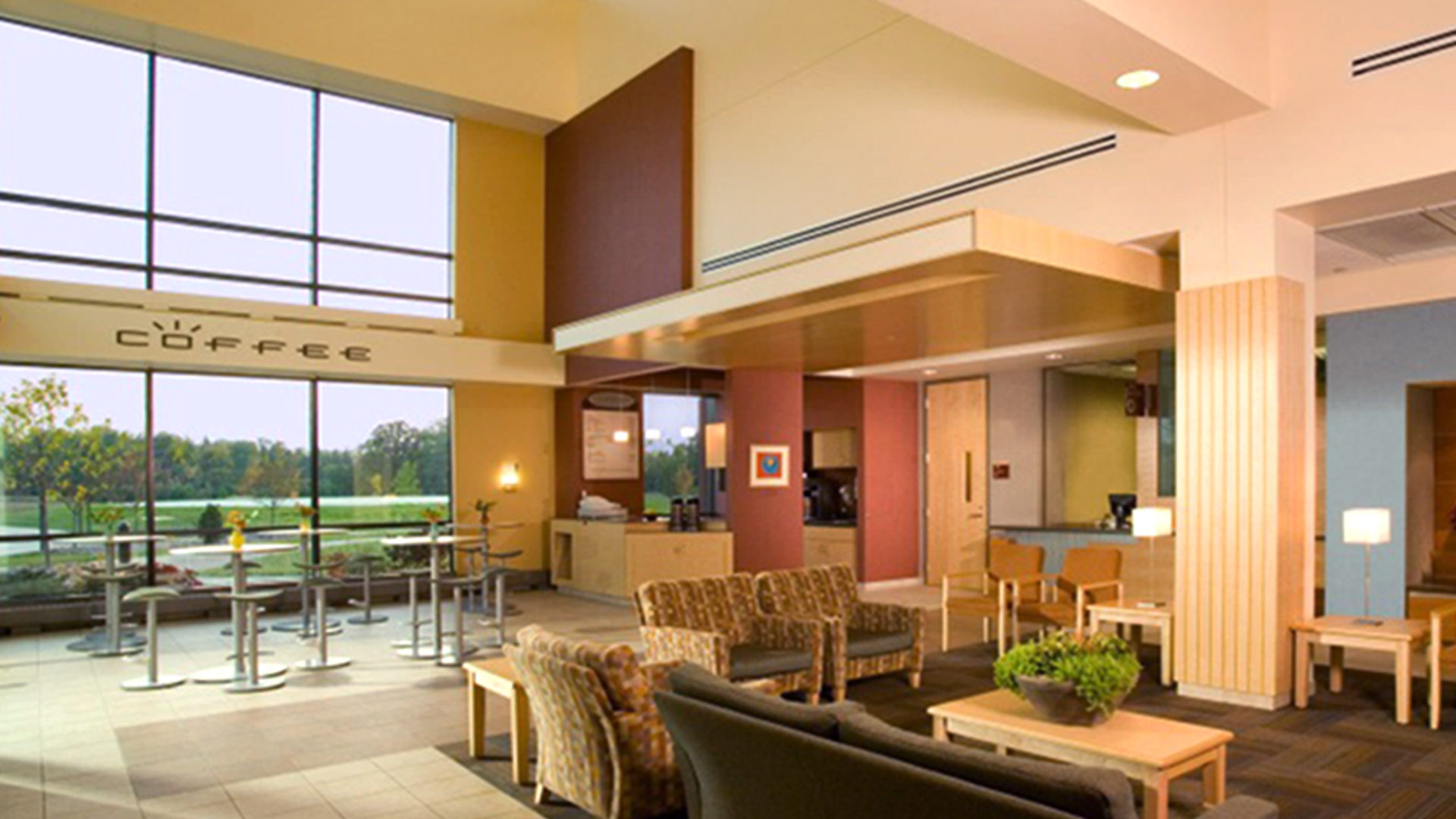 Grand Itasca Clinic & Hospital Interior Coffee Shop and Waiting Area
