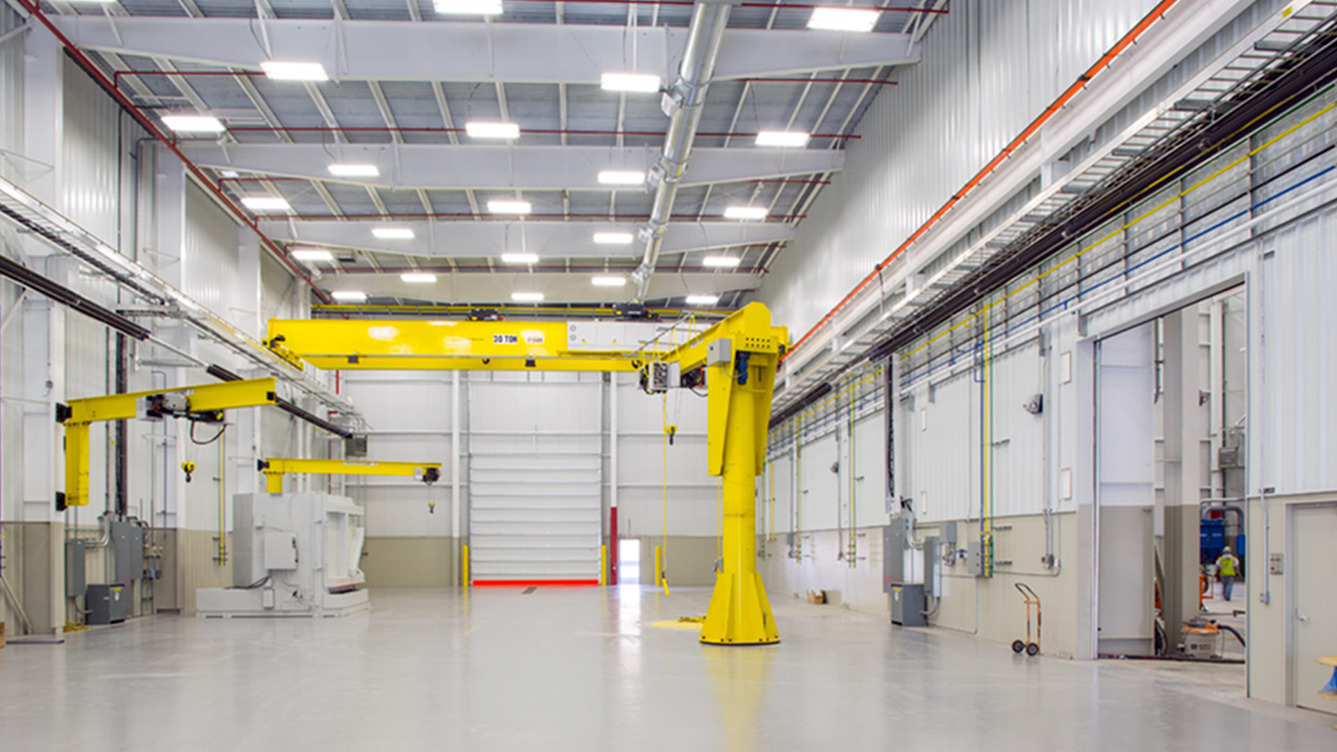 JoyGlobal Virginia Manufacturing Warehouse Interior Spotless White Warehouse
