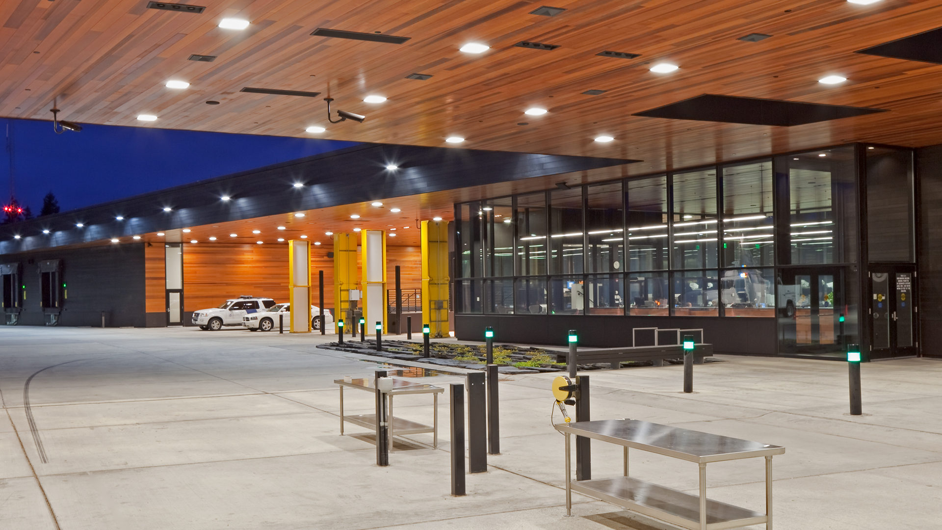 US Land Port of Entry Warroard MN Government Exterior Building View Vehicle Passage
