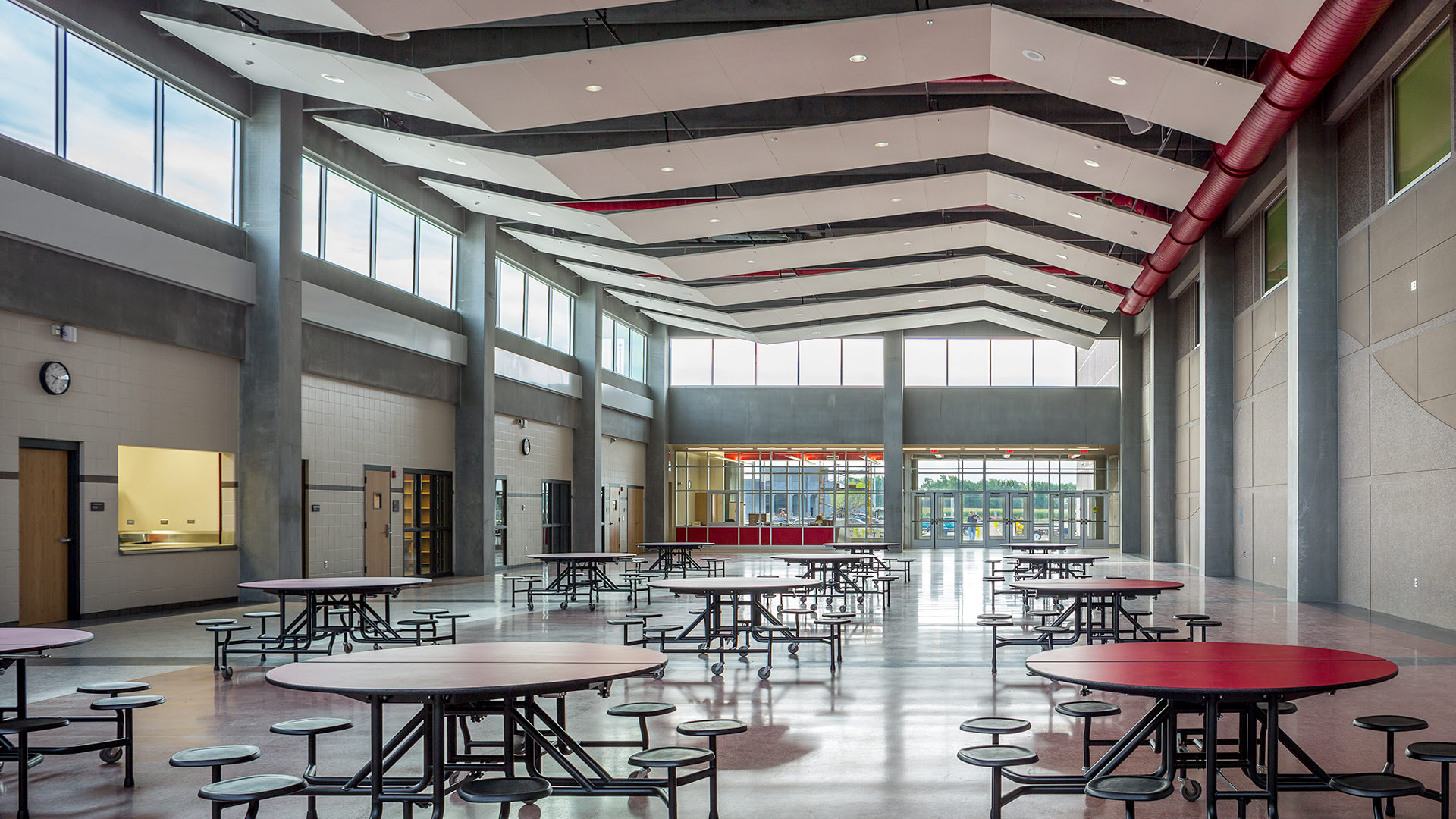 United South Central Schools Wells MN Education Vaulted Cafeteria