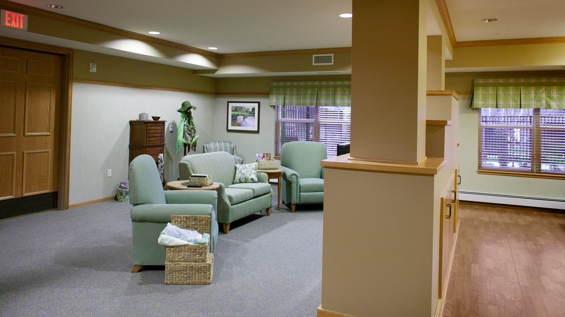 Valley Ridge Senior Residential Housing Burnsville MN Community TV room