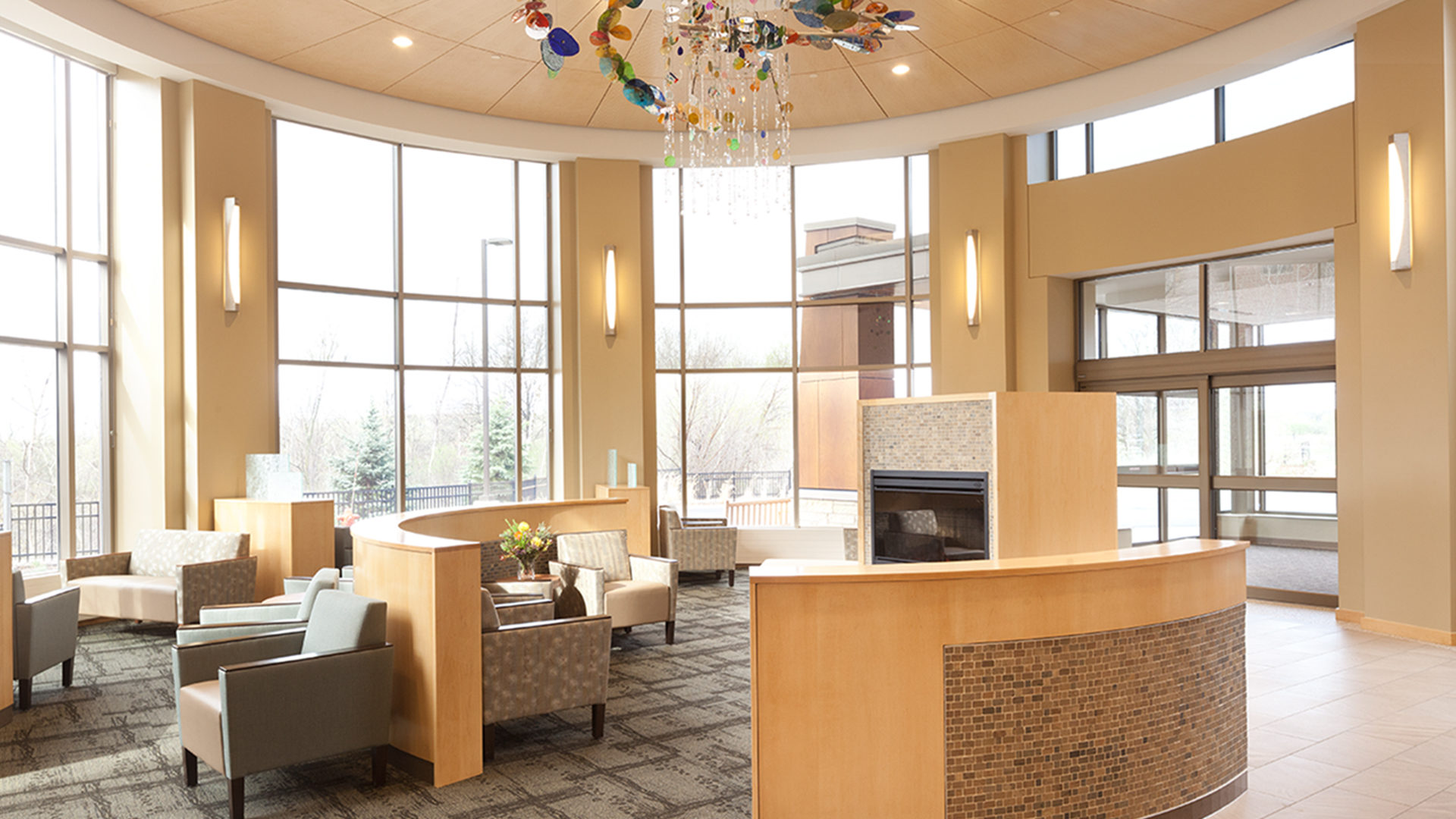 Woodwinds Hospital Cancer Center Woodbury MN Lobby Waiting Area