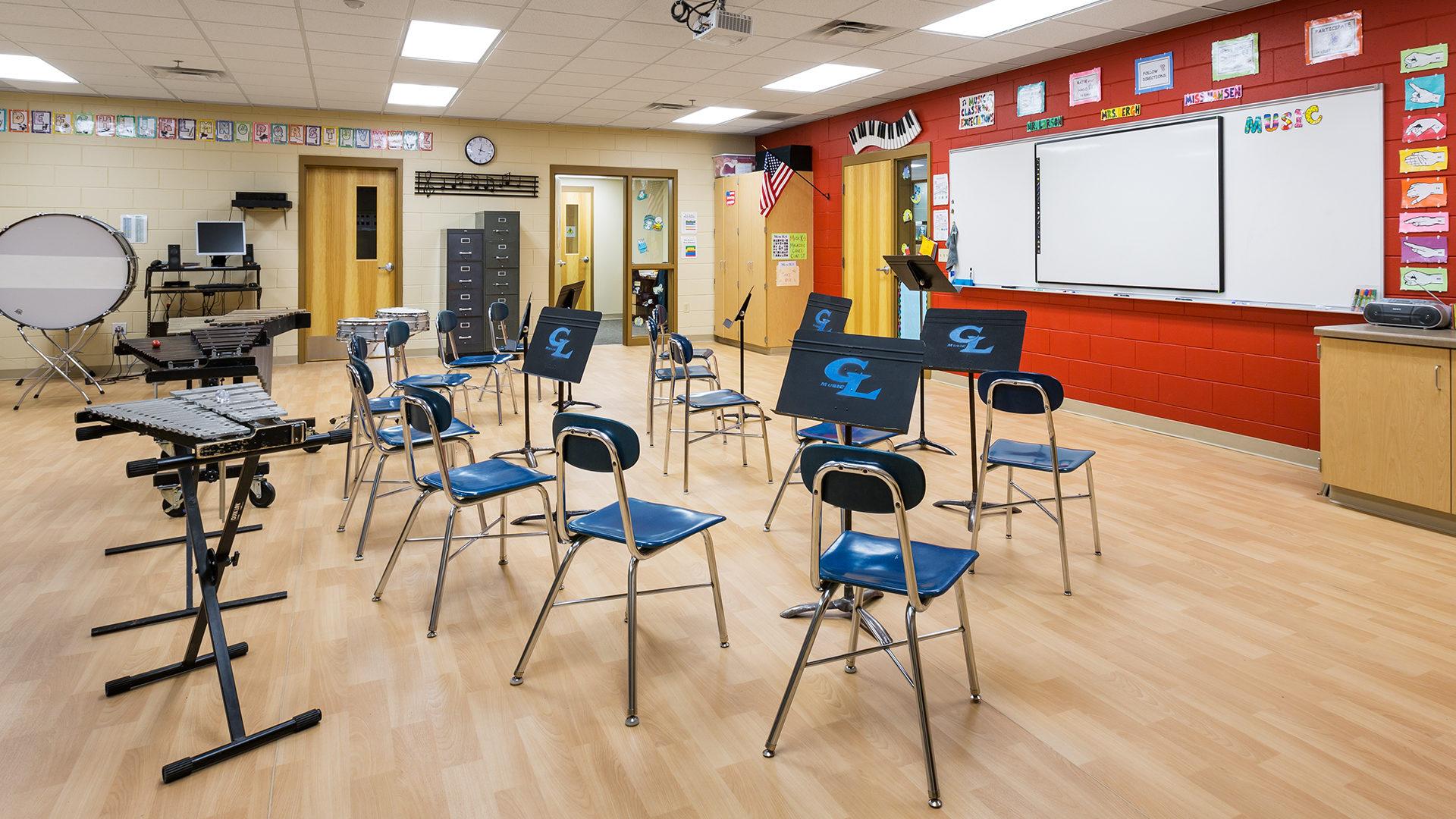 Clear Lake Elementary School Interior Music Room