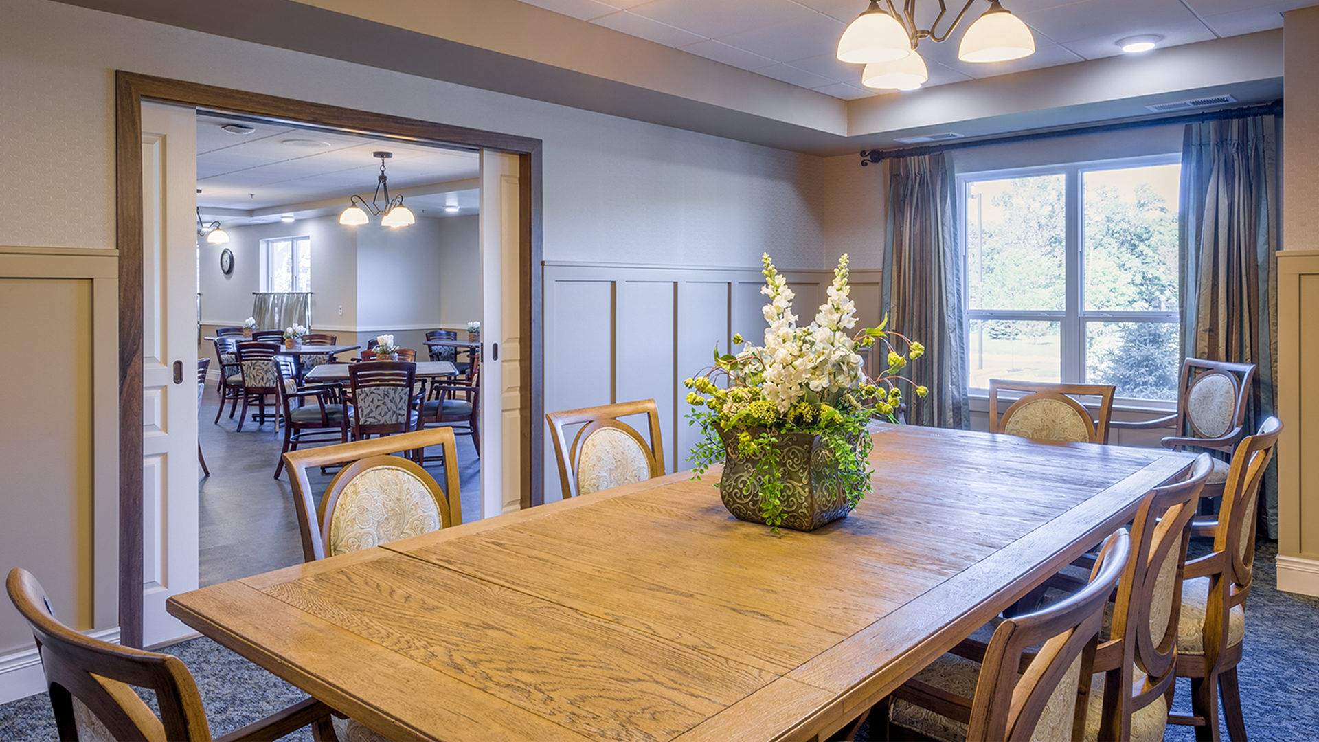 Deephaven Woods Senior Living Housing Interior Private Formal Dining Room