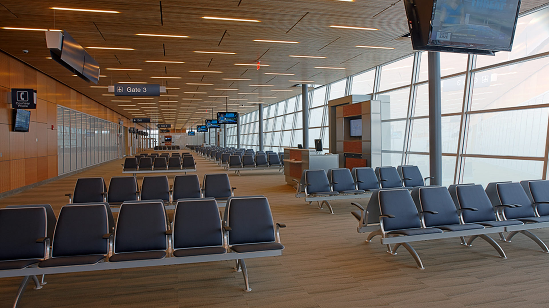 Duluth International Airport Terminal Interior Gates and Waiting Areas