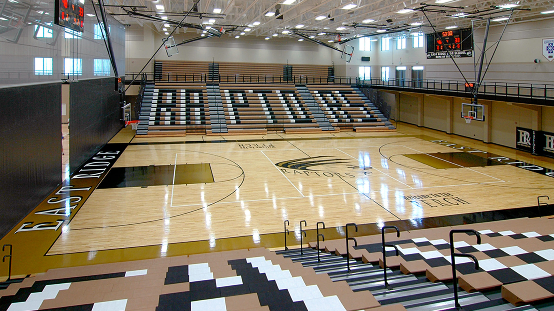 East Ridge High School Multi-Court Gymnasium with Second Story Walking Track