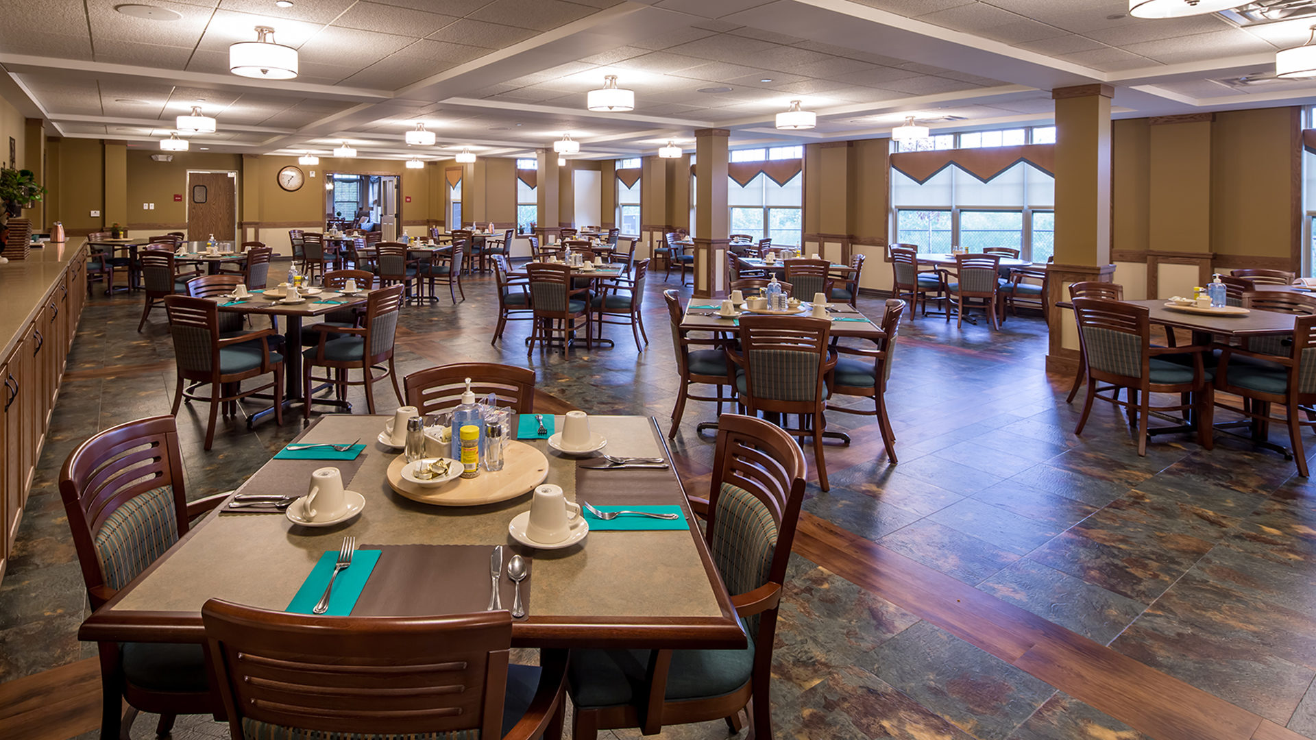 Ebenezer Arbors at Ridges Senior Assisted Living Interior Cafeteria Dining Area