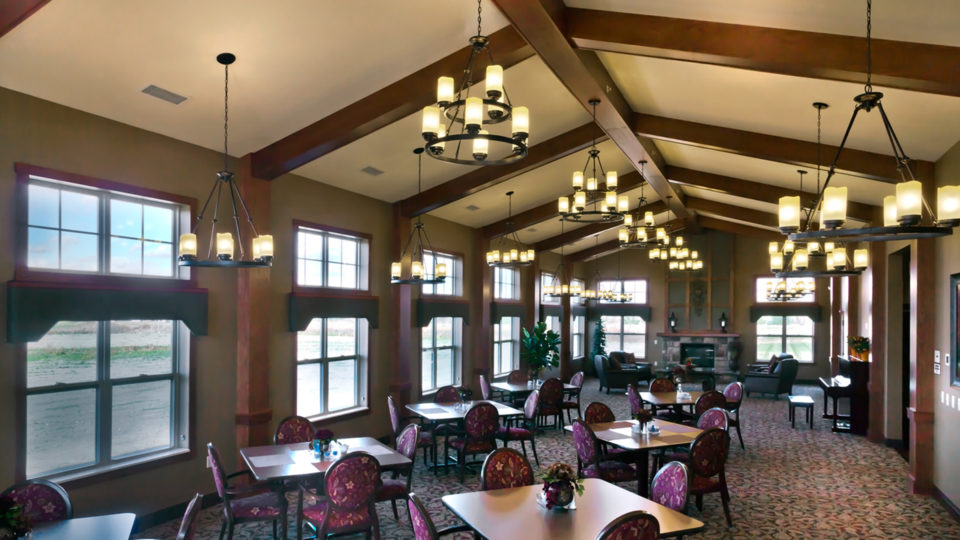 Engel Haus Senior Housing Vaulted Ceiling Residents Dining Room