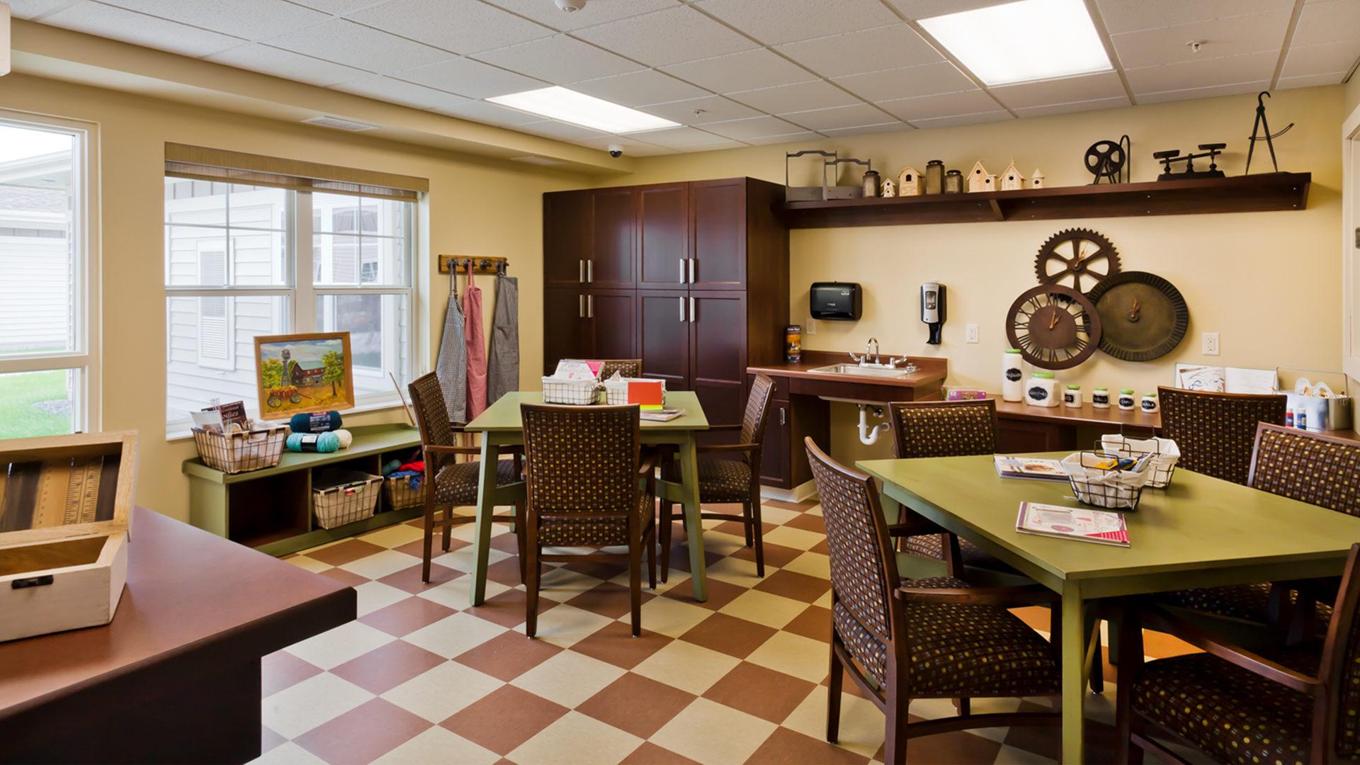 Good Samaritan Society International Falls Interior Craft Room
