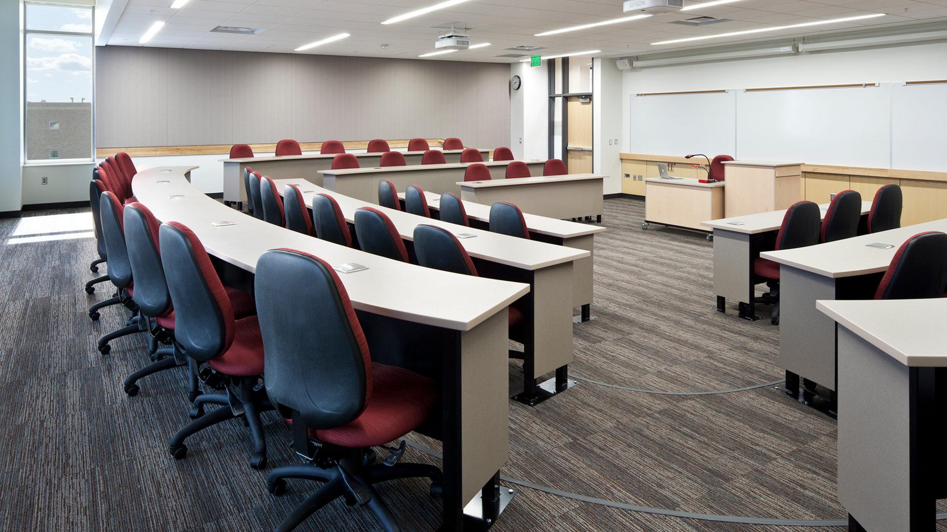 Gustavus Adolphus College Beck Academic Hall Interior Class Room