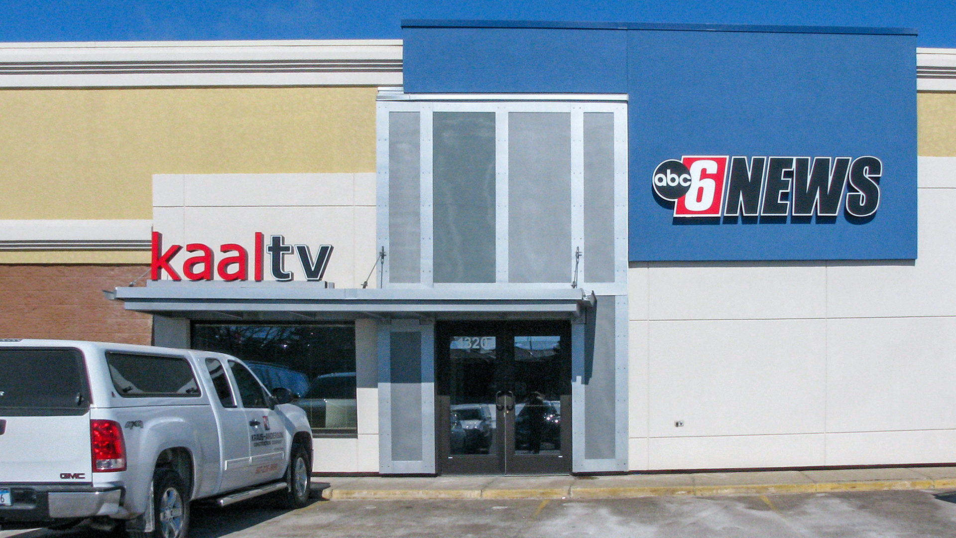 KAAL TV Studio Rochester ABC 6 News Exterior Entrance View