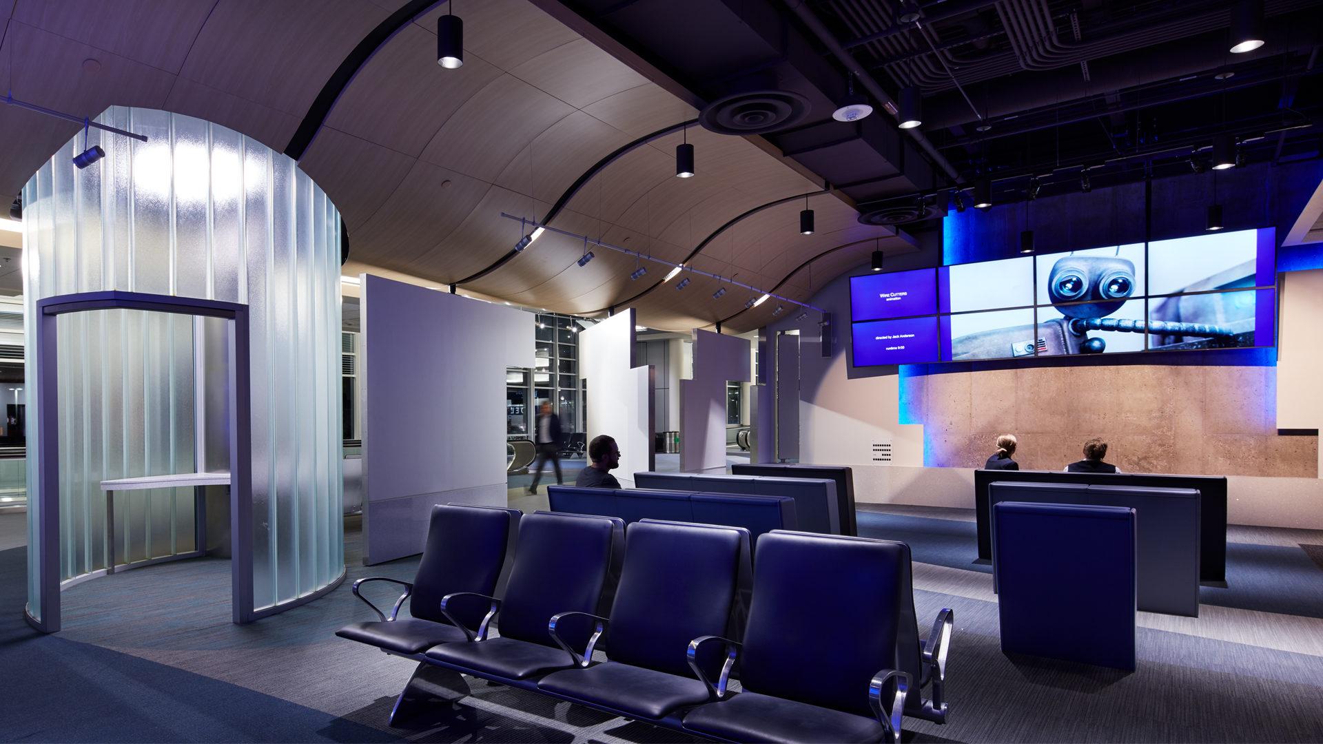 MAC T2-Humphrey Terminal Bloomington_Movie Lounge in Remodeled Terminal