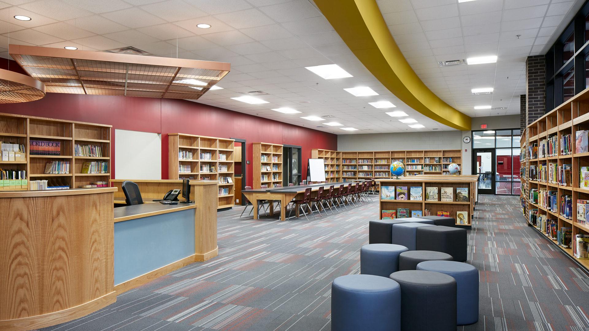 Pine Island Elementary School Pine Island MN Library