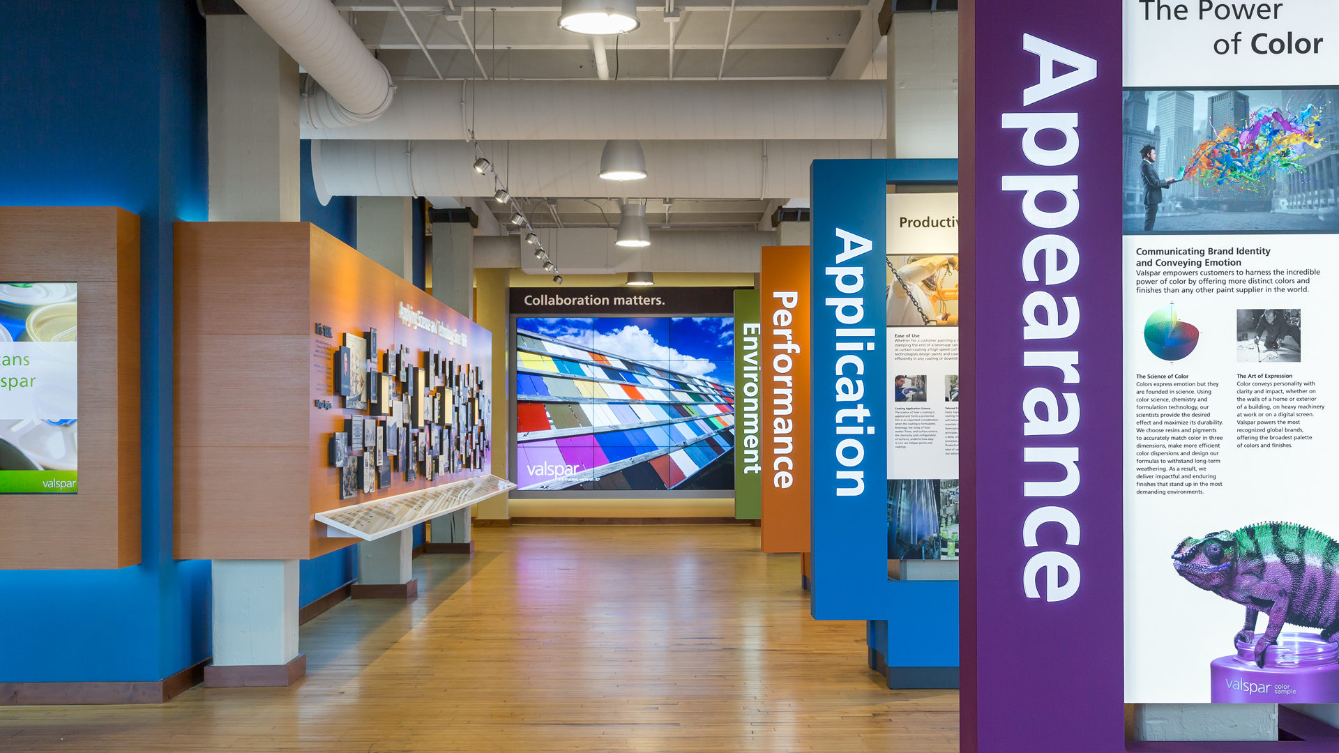 Valspar Applied Science and Technology Center VAST I Manufacturing High Tech RnD Lobby Show Room