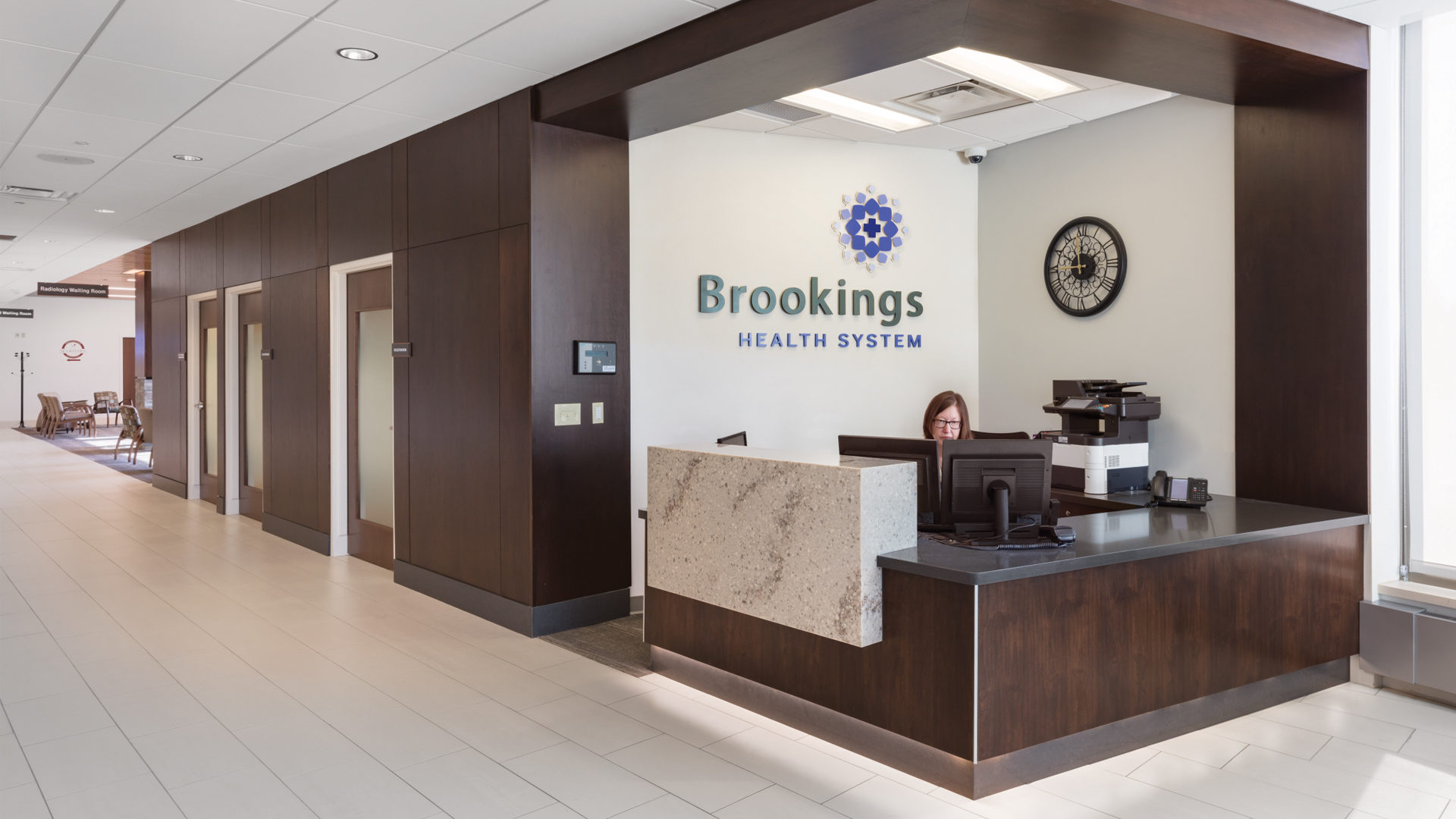 Brookings Hospital Addition and Renovation Interior Reception Desk