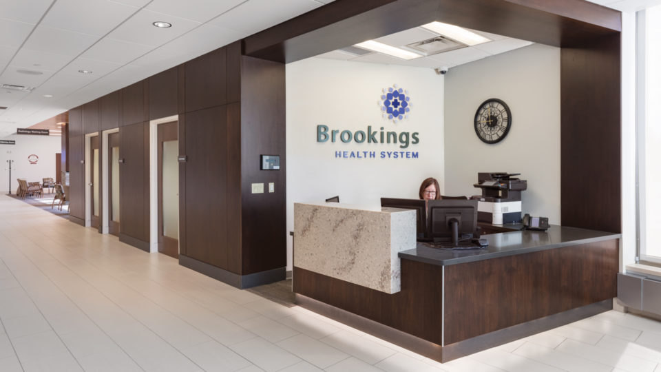 Brookings Hospital Addition and Renovation Interior Reception Desk