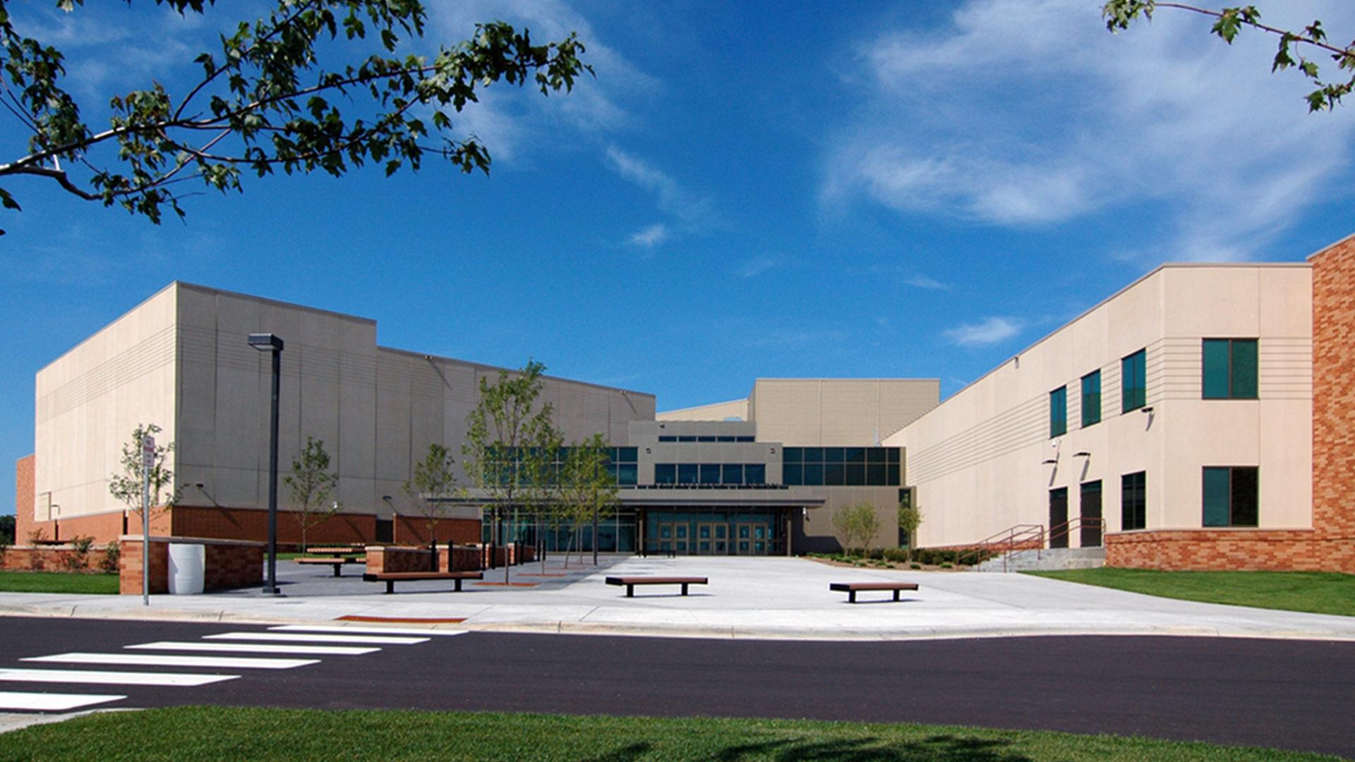 East Ridge High School Exterior Entrance for the Active Center